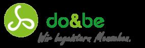 logo slogan hellgruen dunkelgruen schwarz doandbe