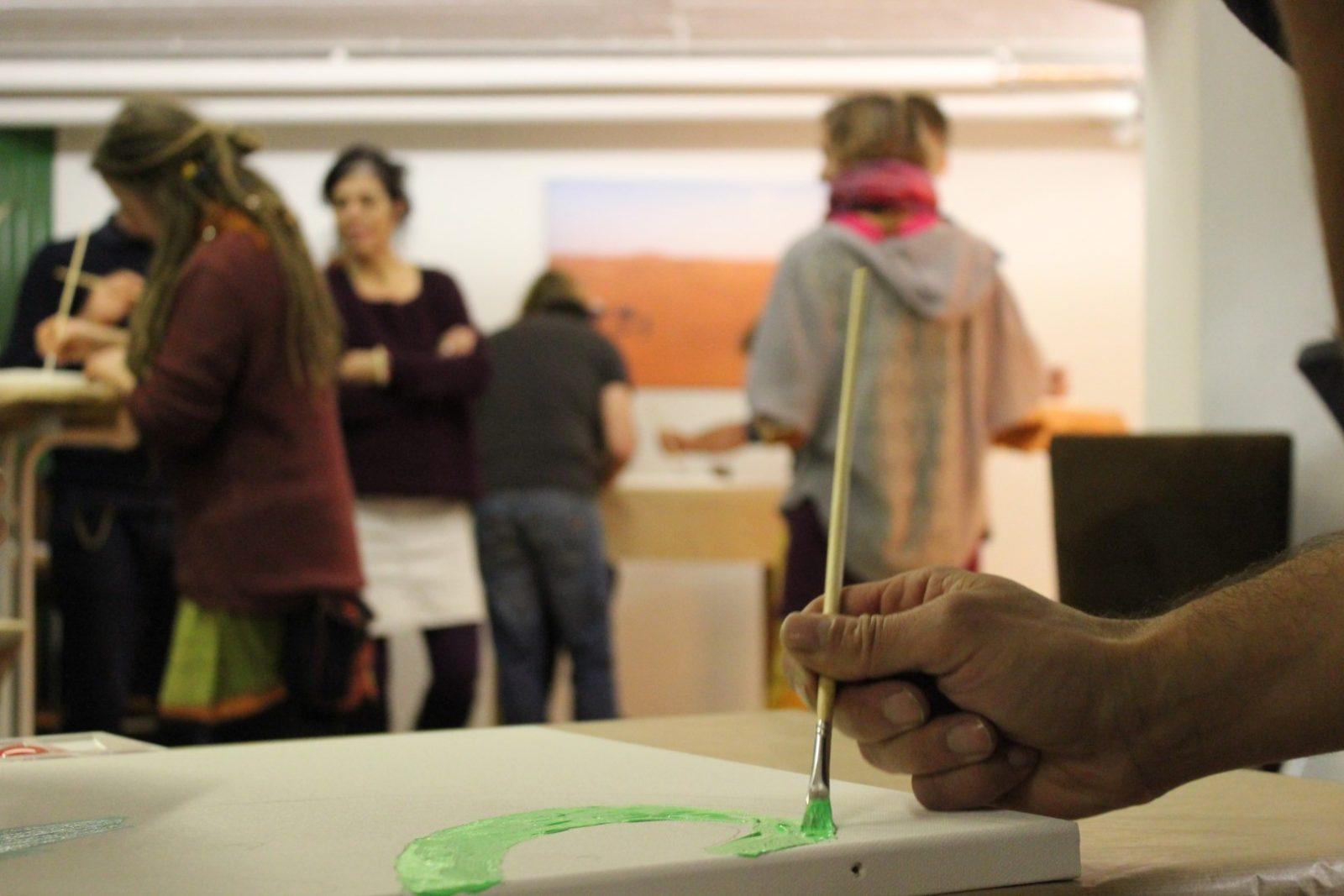 Team-Event Incentive Betriebsausflug Team Painting